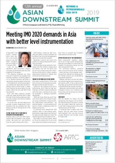 2019 Asian Downstreasm Summit Newspaper