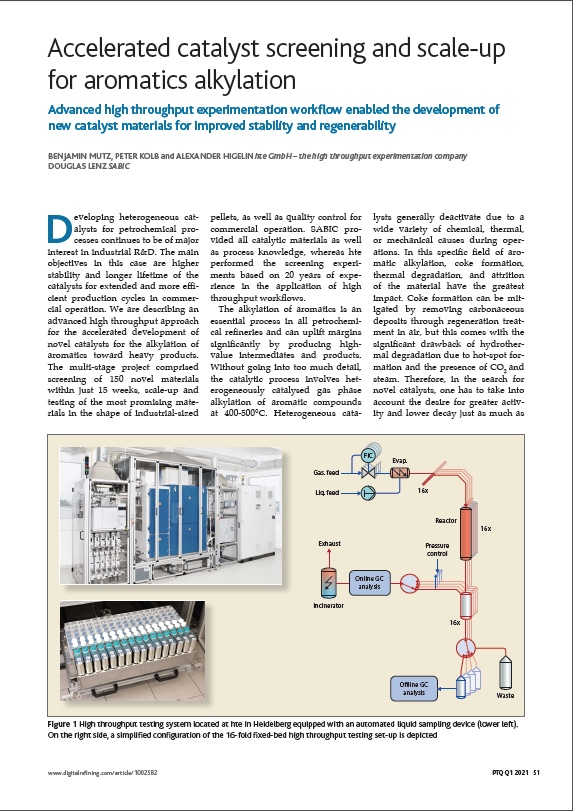 Accelerated catalyst screening and scale-up for aromatics alkylation